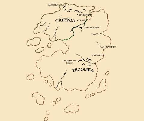 The Continent of Tezomea